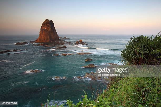 Magnificent Papuma giant rock in beautiful sunrise