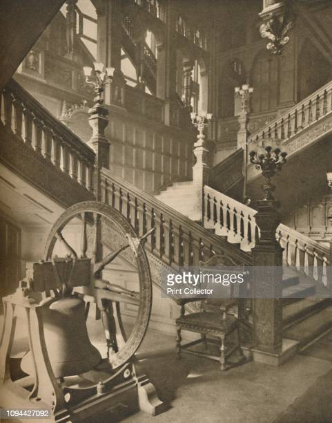 Magnificent Staircase of Grocers' Hall and the Great Flemish Bell Named Martin' circa 1935 Staircase in the Hall of the Worshipful Company of Grocers...
