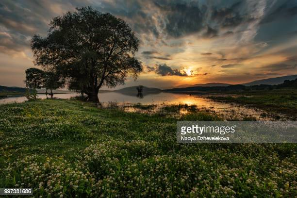 Magnificent sunset at Zhrebchevo Dam, Bulga