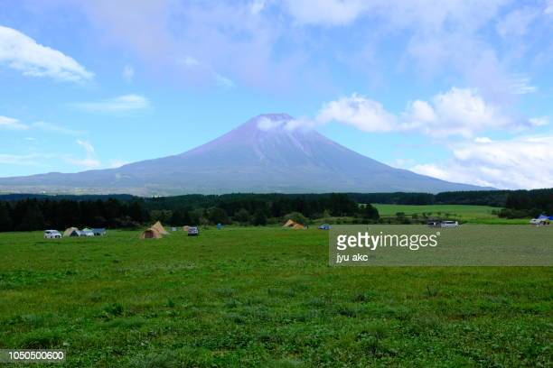 magnificious mount fuji - キャンプ ストックフォトと画像
