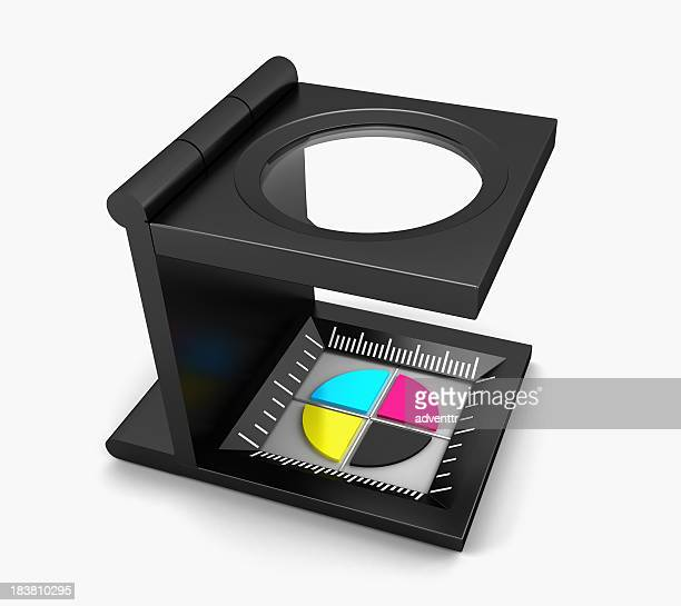 Magnifier on CMYK icon