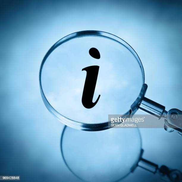 magnify info symbol - information symbol stock pictures, royalty-free photos & images