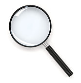 Magnifying glass 3d rendering