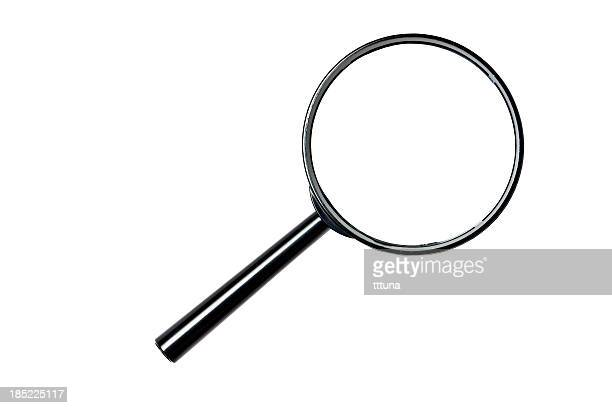 magnifying glass, cut out on white background - clip art stock pictures, royalty-free photos & images