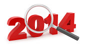 magnifying glass over 2014