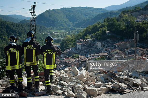 Magnitude earthquake in Italy between Lazio and Marche regions which killed at least 250 people. The rescue efforts and rubble in the village of...