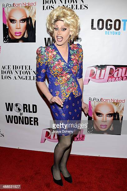 Magnolia Crawford attends Logo TV's RuPaul's Drag Race season 6 reunion taping at The Theatre at Ace Hotel Downtown LA on May 6 2014 in Los Angeles...