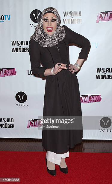 Magnolia Crawford attends RuPaul's Drag Race Season 6 Premiere Party at Stage 48 on February 19 2014 in New York City