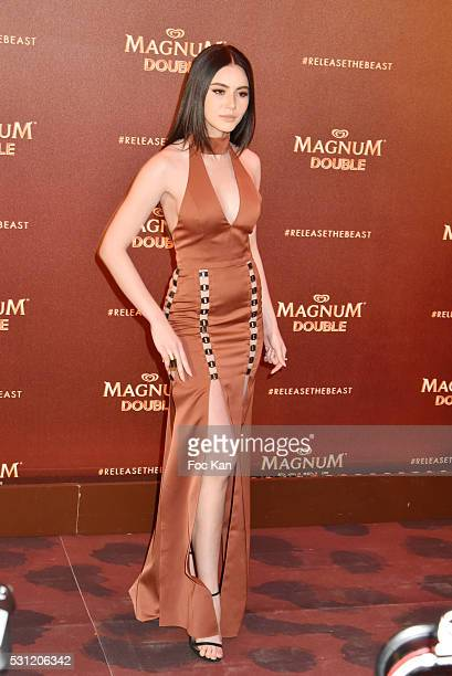 Magnum egerie attends the Magnum Doubles Party The 69th Annual Cannes Film Festival at Plage Magnum on May 12 2016 in Cannes France