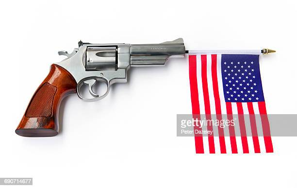 44 magnum gun with us flag - gun control stock pictures, royalty-free photos & images