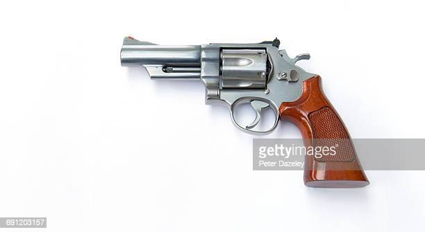 44 magnum hand gun with copy space - handgun stock pictures, royalty-free photos & images
