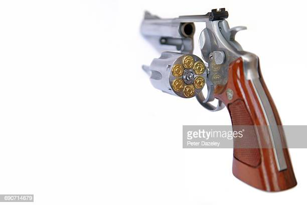 44 magnum loaded and open - ammunition stock pictures, royalty-free photos & images