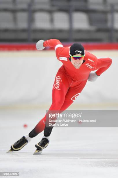 Magnus Bakken Haugli of Norway performs during the Men 1500 Meter at the ISU Neo Senior World Cup Speed Skating at Max Aicher Arena on November 26...