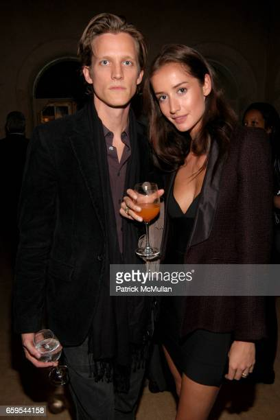 Magnus Berger and Rekha Luther attend Launch of Rosenthal Concept Store at The Shops at The Plaza at Plaza Terrace Foyer on October 14 2009 in New...