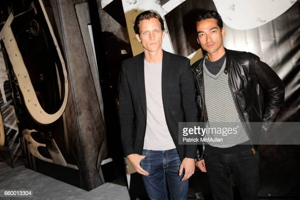 Magnus Berger and Tenzin Wild attend BURBERRY Lights Up NYC Skyline For First Time on BURBERRY DAY at The New York Palace Hotel on May 28 2009 in New...