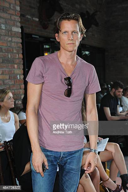 Magnus Berger attends the Rodebjer fashion show during MercedesBenz Fashion Week Spring 2015 at The Bowery Hotel on September 5 2014 in New York City