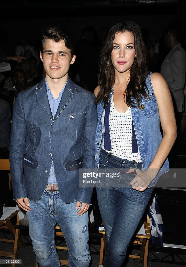 Magnus Carlsen and Liv Tyler attends the G-Star Spring 2011 fashion show during Mercedes-Benz Fashion Week at Pier 94 on September 14, 2010 in New York City.