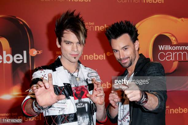 Magnus Christian Ehrlich and his brother mganus Andreas Ehrlich during the television show 'Willkommen bei Carmen Nebel' at Velodrom on May 4, 2019...