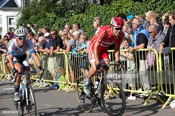 Magnus Cort Nielsen from Denmark riding for Team PostNord Danmark during PostNord Tour of Denmark third stage on the 20% uphill road Kiddesvej in...
