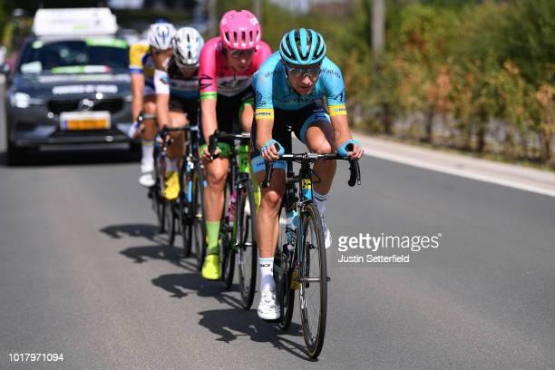 / Magnus Cort Nielsen of Denmark and Astana Pro Team / Julius Van Den Berg of Netherlands and Team Ef Education FirstDrapac P/B Cannondale / Alexis...