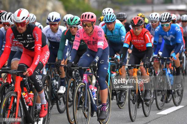 Magnus Cort Nielsen of Denmark and Team EF Education - Nippo & Jan Tratnik of Slovenia and Team Bahrain Victorious during the 74th Tour De Romandie...