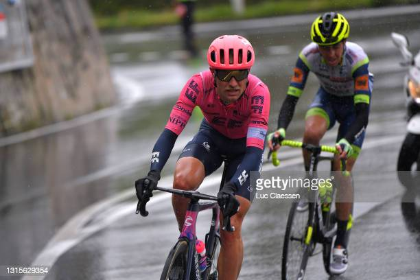 Magnus Cort Nielsen of Denmark and Team EF Education - Nippo & Simone Petilli of Italy and Team Intermarché - Wanty - Gobert Matériaux in the...