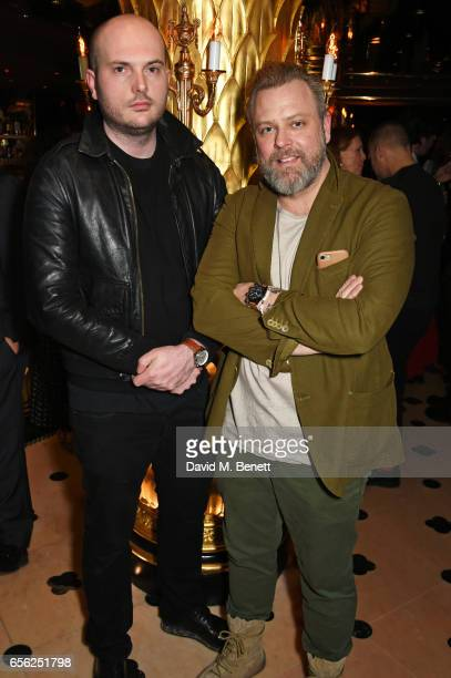 Magnus FengerKrog and Christian Remrod attend the Another Man Spring/Summer Issue launch dinner in association with Kronaby at Park Chinois on March...