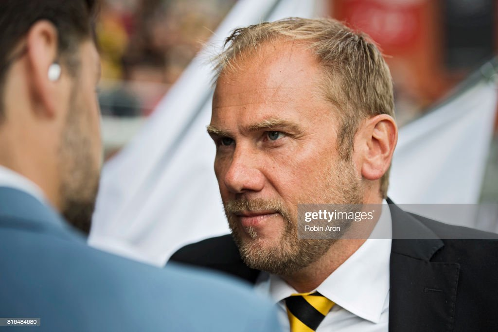 Magnus Haglund, head coach of IF Elfsborg before the Allsvenskan match between IF Elfsborg and Hammarby at Boras Arena on July 17, 2017 in Boras, Sweden.