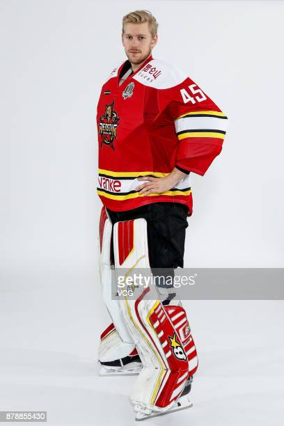 Magnus Hellberg of HC Kunlun Red Star poses for a portrait on November 21 2017 in Shanghai China