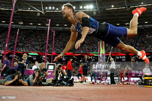 Magnus Kirt of Estonia competes during the Men's Javelin Throw final during day nine of the 16th IAAF World Athletics Championships London 2017 at...
