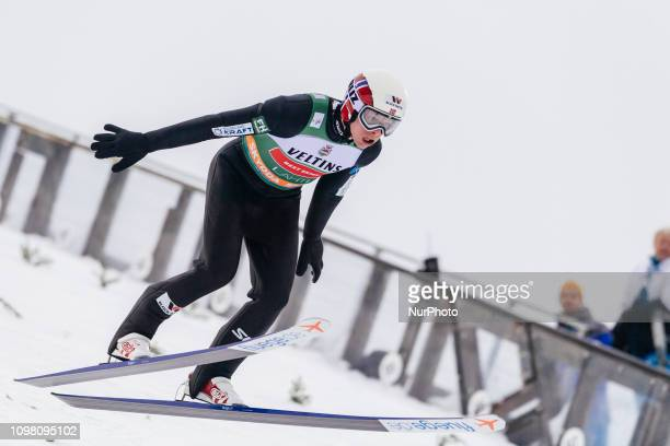 Magnus Krog competes in the FIS Nordic Combined World Cup Individual Gundersen LH/10km Ski Jumping at the Lahti Ski Games in Lahti, Finland on 10...