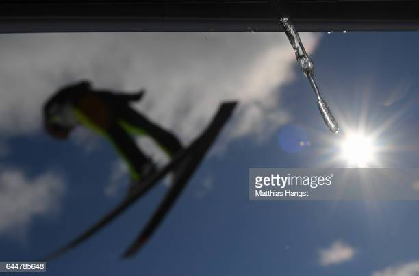 Magnus Krog of Norway competes in the Men's Nordic Combined HS100 during the FIS Nordic World Ski Championships on February 24 2017 in Lahti Finland