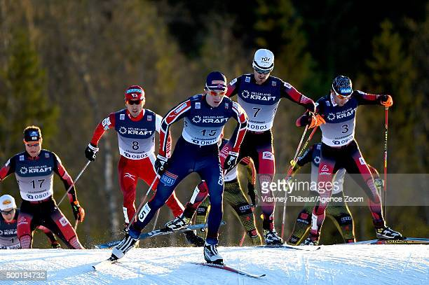 Magnus Krog of Norway takes 1st place during the FIS Nordic World Cup Men's Nordic Combined HS138/10k on December 06 2015 in Lillehammer Norway