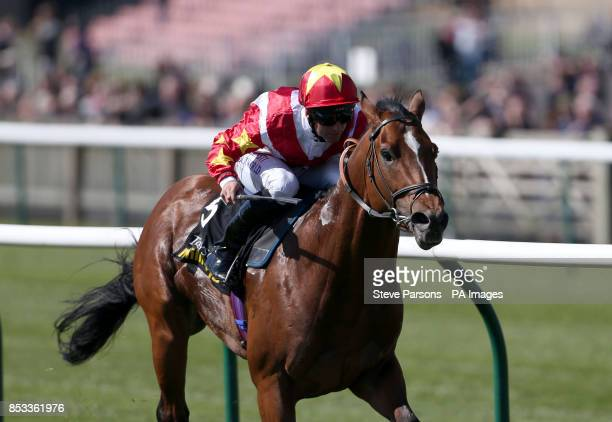 Magnus Maximus ridden by Pat Dobbs beats Toofi ridden by Andrea Atzeni to win the Acircpound100000 Tattersalls Millions 3yo sprint during day one of...