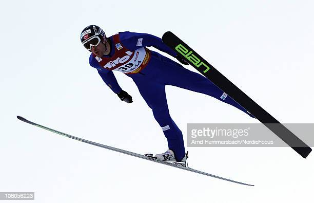 Magnus Moan of Norway competes in the Gundersen Ski Jumping HS 109/10km Cross Country event during day one of the FIS World Cup Nordic Combined on...