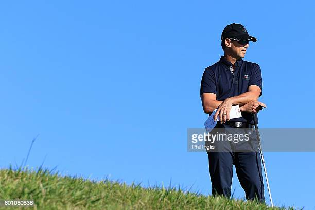 Magnus P Atlevi of Sweden in action during the first round of the Paris Legends Championship played on L'Albatros course at Le Golf National on...