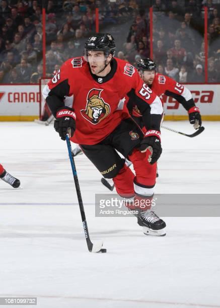 Magnus Paajarvi of the Ottawa Senators skates against the Boston Bruins at Canadian Tire Centre on December 9 2018 in Ottawa Ontario Canada