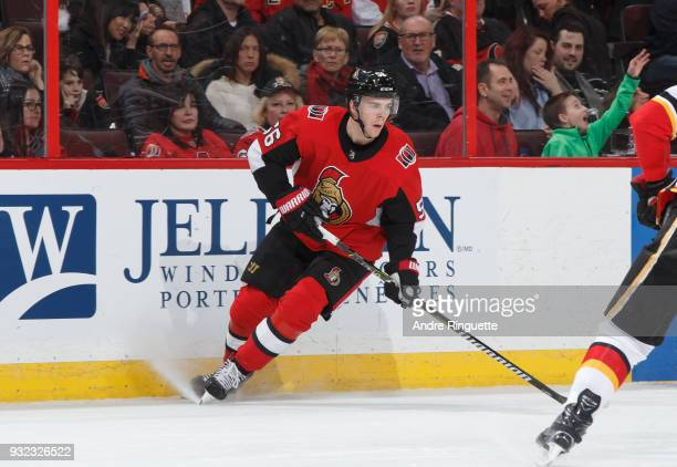 Magnus Paajarvi of the Ottawa Senators skates against the Calgary Flames at Canadian Tire Centre on March 9 2018 in Ottawa Ontario Canada
