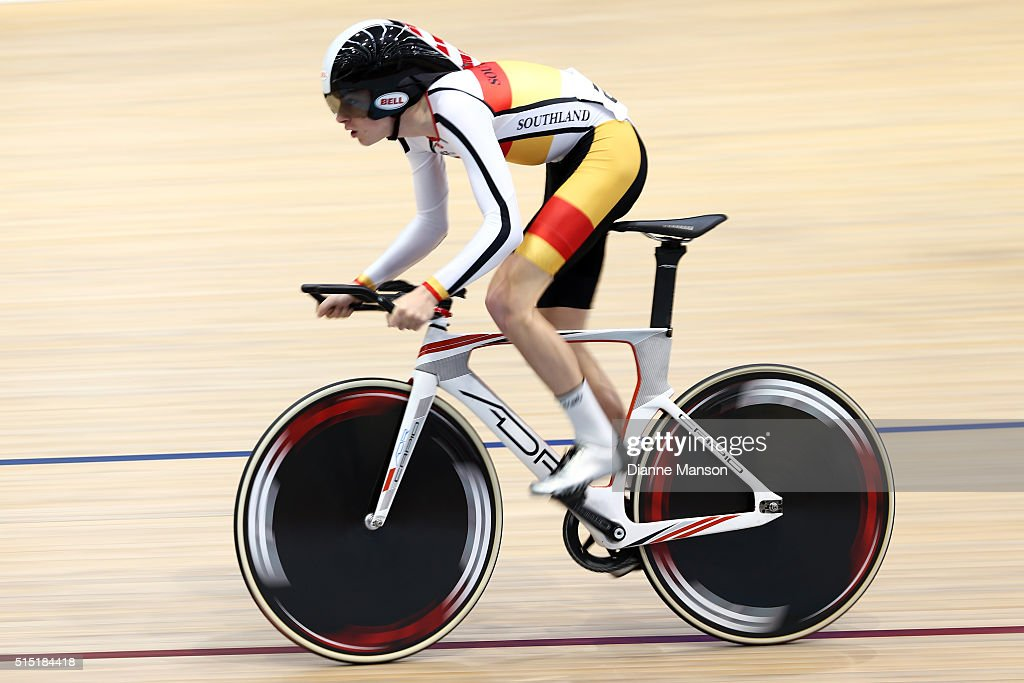 Magnus Tuxen-Rosing of Southland competes in the Junior U19 Men Omnium 500m Time Trial during the New Zealand Age Group Track National Championships on March 13, 2016 in Invercargill, New Zealand.