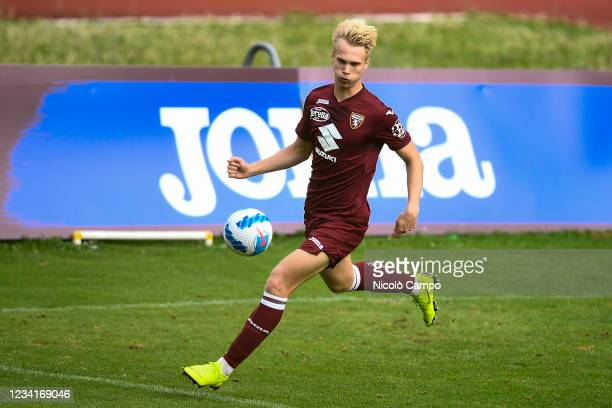 Magnus Warming of Torino FC in action during the pre-season friendly football match between Torino FC and SSV Brixen. Torino FC won 5-1 over SSV...