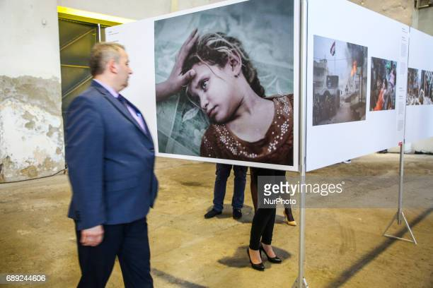 Magnus Wennman 'What ISIS Left Behind' on the opening of World Press Photo 2017 exhibition in the former Powerhouse of Royal Iron Works in Chorzow...