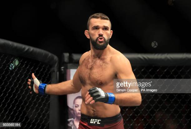 Magomed Ankalaev at The O2 Arena London PRESS ASSOCIATION Photo Picture date Saturday March 17 2018 See PA Story UFC London Photo credit should read...