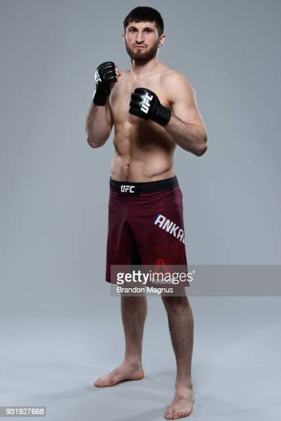 Magomed Ankalaev of Russia poses for a portrait during a UFC photo session on March 14 2018 in London England