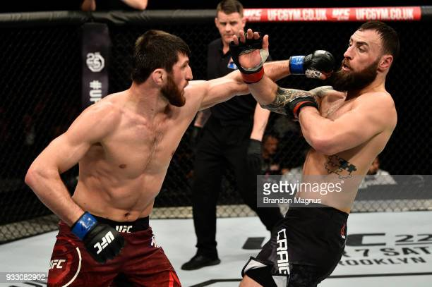 Magomed Ankalaev punches Paul Craig of Scotland in their light heavyweight bout inside The O2 Arena on March 17 2018 in London England