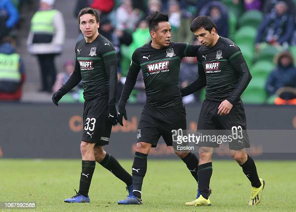 2 943 Players Of Fc Krasnodar Photos And Premium High Res Pictures Getty Images