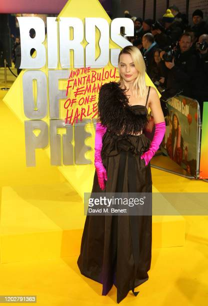 Magot Robbie attends the World Premiere of Birds Of Prey at the Odeon IMAX Waterloo on January 29 2020 in London England