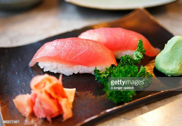 maguro sushi - nigiri stock pictures, royalty-free photos & images