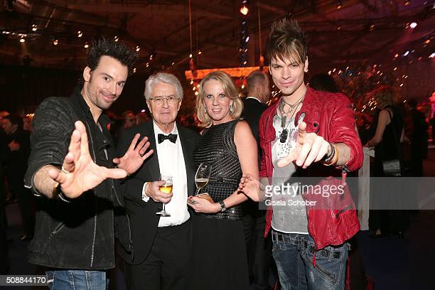 Magus Christian Ehrlich and his brother Andreas Ehrlich the Ehrlich Brothers Frank Elstner and his wife Britta during the after show party of the...