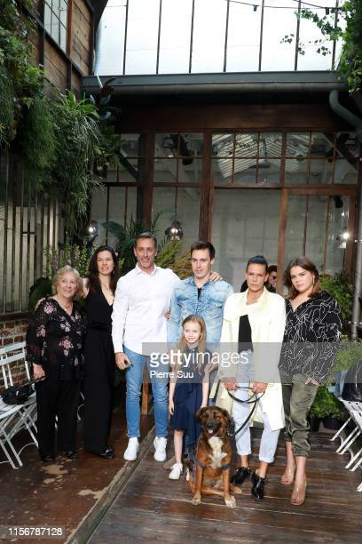 Maguy DucruetKellyMarie LancienDaniel DucruetLinoue DucruetCamille GottliebLouis Ducruet and Stephanie of Monaco attend the Alter Design Menswear...