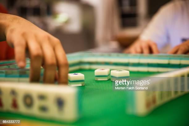 mah jong - mahjong stock photos and pictures